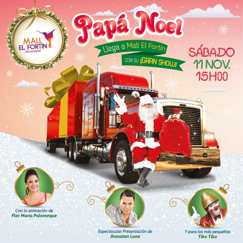 LLegada de Papá Noel a Mall El Fortín