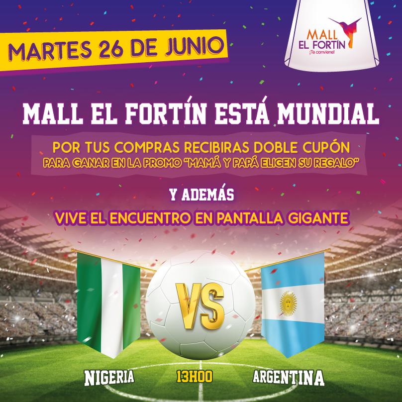 MALL EL FORTÍN ESTÁ MUNDIAL 26/06/2018