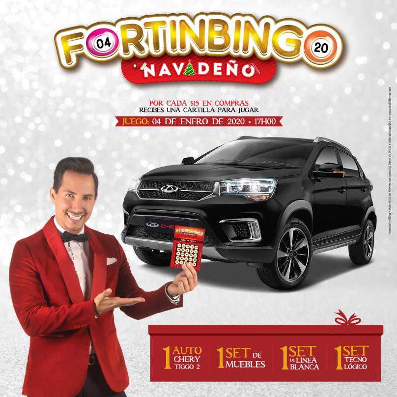 FORTINBINGO NAVIDEÑO DESDE EL 09/11/2019 HASTA EL 04/01/2020