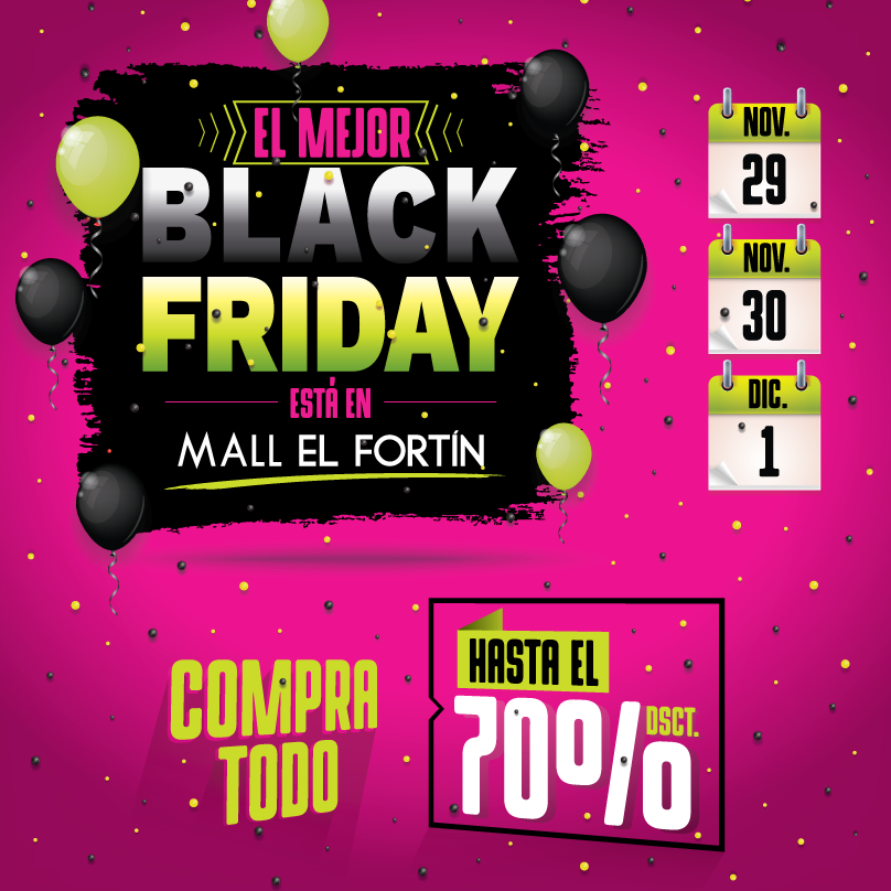 BLACK FRIDAY 29-30 NOV. Y  1 DIC.