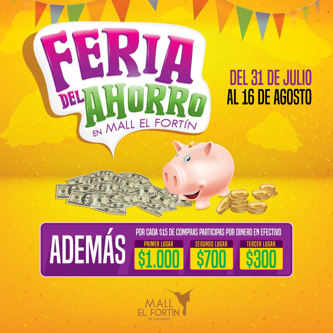 FERIA DEL AHORRO DESDE EL 31/07/2020 HASTA EL 16/08/2020