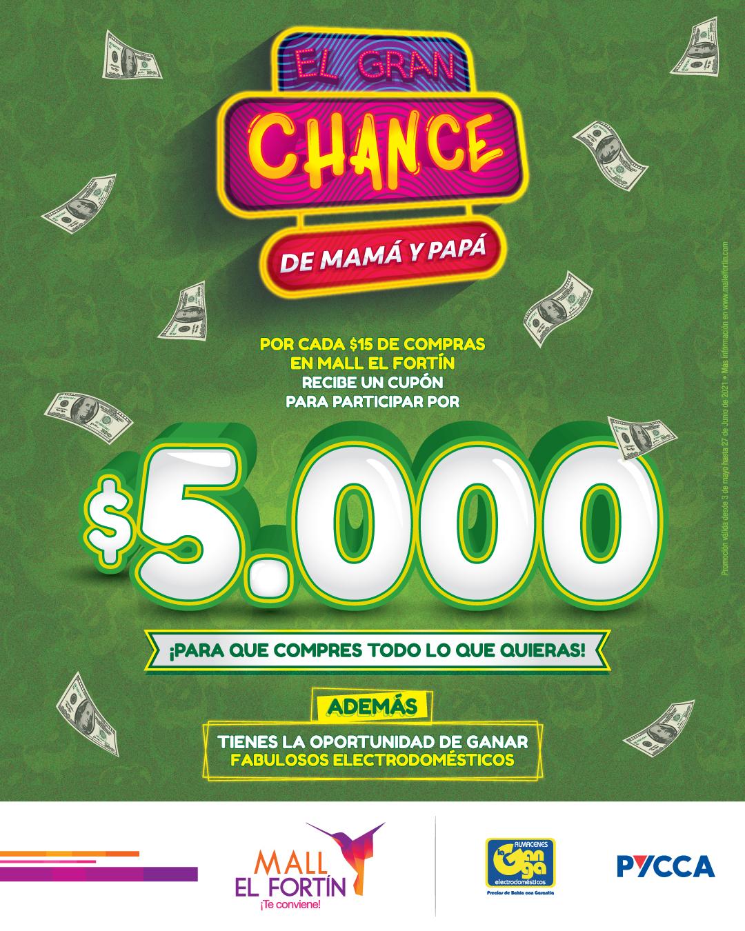 EL GRAN CHANCE DE MAMÁ Y PAPÁ DESDE 03/05/2021 HASTA 27/06/2021